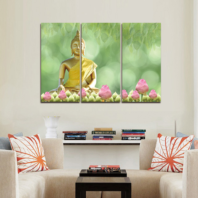 Gerahmte 3 stücke Leinwand Kunst Moderne Printed Buddha Malerei Bild ...