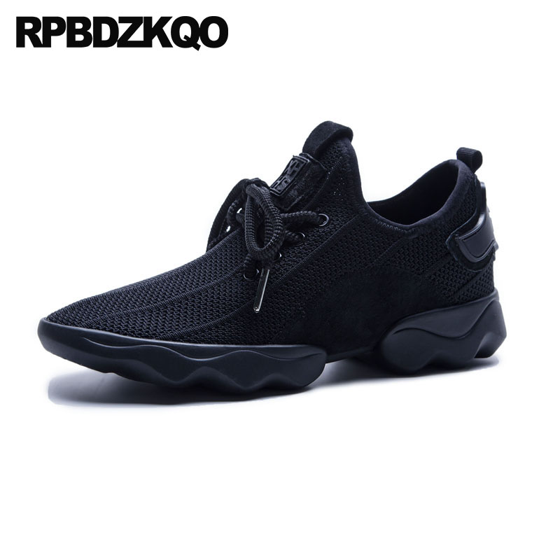 10 Trainers Elevator Thick Sole Pink Breathable Designer Shoes China Flats Lace Up Large Size Black Sneakers Women Mesh Casual
