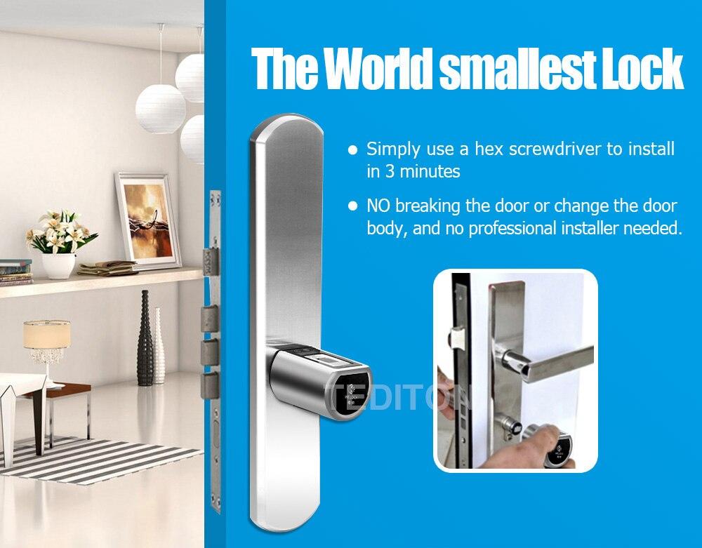 HTB13clWKb1YBuNjSszeq6yblFXaq L5SR-Plus WELOCK Bluetooth APP Smart Lock Electronic Cylinder Outdoor Waterproof Keyless Biometric Fingerprint Scanner door lock