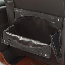 Car Trash Bin Car Seat Back Foldable Garbage Storage Bag Org