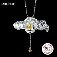 LARGERLOF 925 Silver Pendant Necklace Mood Pendant 2017 Fashion Women pendant Necklaces PS005