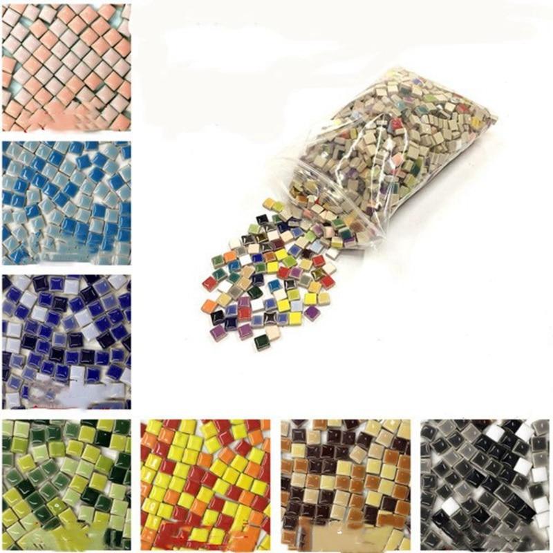 Cerâmica Vidrada Mosaico Solto Grão DIY Educacional das Crianças Criativo Handmade Artesanato Decoração da Casa de Material de Colagem AAA0884