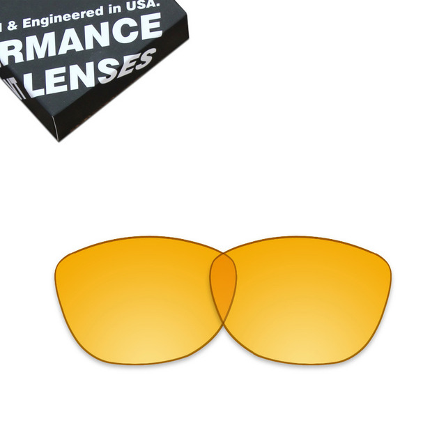 50b2b94ebf ToughAsNails Replacement Lenses for Oakley Frogskins Sunglasses Clear  Yellow (Lens Only)