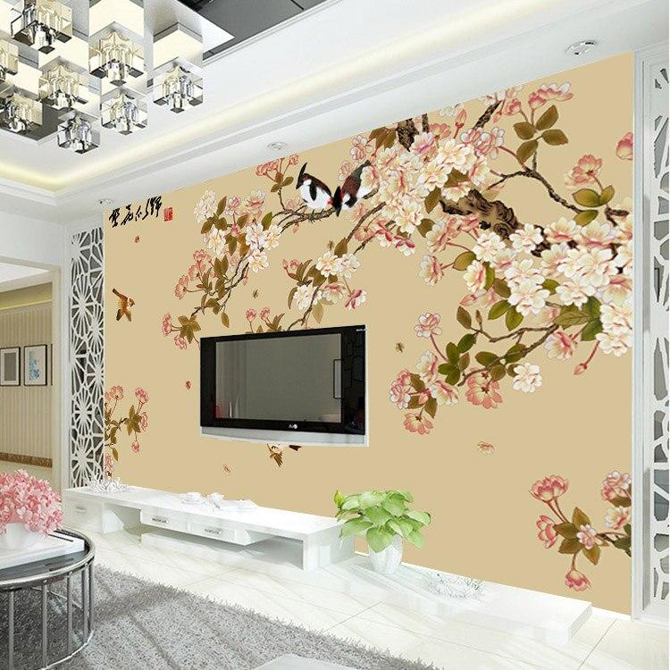 Vintage Bird And Flower Wallpaper Custom 3D Wall Mural Elegant Photo Kids Girls Bedroom Room Decor Art Interior Design In Wallpapers From Home