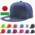 Hot Sales nueva moda verano llano del Color sólido sombreros del Snapback Hip Hop Bboy ajustable gorros gorra de béisbol