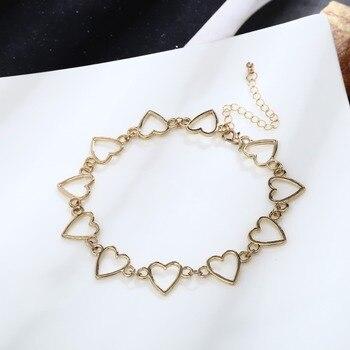 Ingemark Korean Sweet Love Heart Choker Necklace Statement Girlfriend Gift Cute Silver Color Necklace Jewelry Collier Femme 2018 4