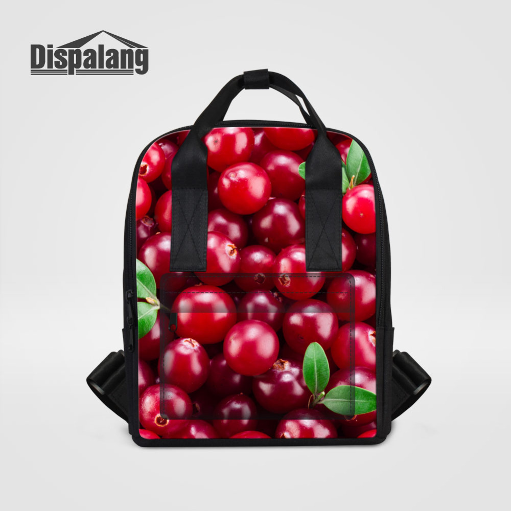 Dispalang Fruits Printing Women Backpack Candy School Bags for Teenage Girls Cute Book Bags Fashion Female Laptop Backpacks tourit 2016 new canvas printing backpack women school bags for teenage girls cute bookbags vintage laptop backpacks female