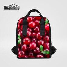 Dispalang фрукты печати женщины рюкзак конфеты школьные сумки для девочек-подростков милые сумки книгу Модные женские ноутбук рюкзаки