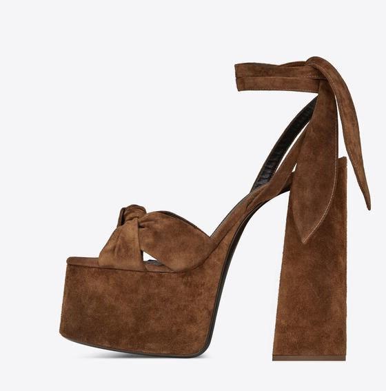 Moraima Snc 2019 été talons épais sandale pour femme Sexy Peep Toe plate-forme à lacets femme chaussures bride à la cheville Bowknot talons d'été