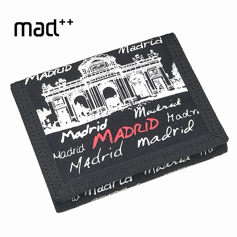Graffiti Trifold Male Men's Wallet Casual For Boy Purse Child Young Student Canvas Coin Pouch Pocket Designer Brand New Hot new look minimalist men women wallet unisex male female coin purse pouch holder pocket simple casual designer short style canvas