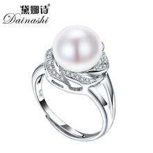 Descuento grande 925 joyería de plata esterlina en venta grandes anillos de perlas para las mujeres de piedra natural anillo ajustable blanco/rosa/púrpura perla
