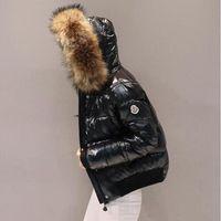 2019 Winter women jacket new bright coat cotton women's short down cotton padded Faux fox fur collar cotton coat women parkas