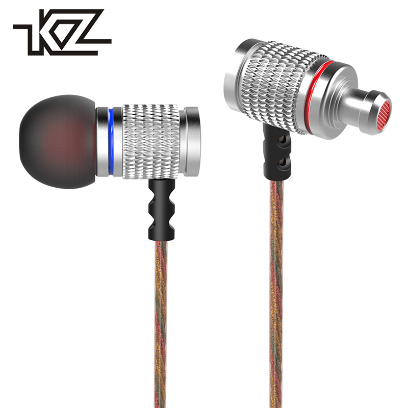 KZ EDR2 Hifi Auricular Wired Earbud In-ear Earphone For Phone iPhone Headset Headphone With Microphone In Ear Headfone Sluchatka kz ates ate atr hd9 copper driver hifi sport headphones in ear earphone for running with microphone game headset