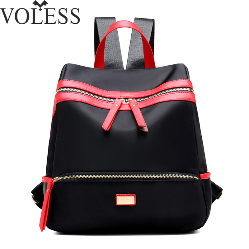 Fashion Women Backpacks High Quality Casual School Bags Nylon Backpacks Teenage Girls  Double Zipper Bags Travel Bag Rucksack