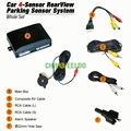 10-Color Car Rearview Parking Sensor + License Plate Camera Video Reverse Parking Sensor System #J-1550