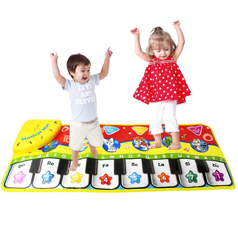 70x27cm Baby Musical Animal Piano Play Mat Language Child Learning Playmat Music Baby Educational Electronic Play Mat Kids Toy