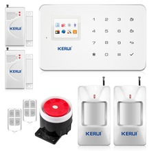 2016 kerui new wireless phone app gsm alarm system home security alarm PIR Motion Touch Screen Alarm Panel