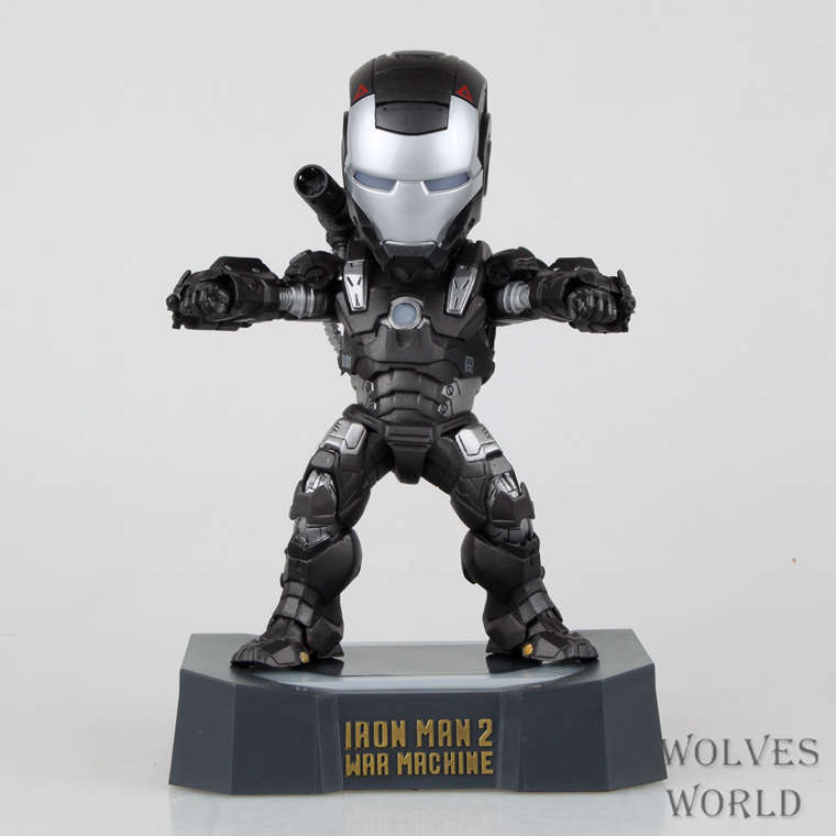 Huong Movie Figure 18 CM EGG Attack Iron Man 2 War Machine with LED Light  PVC Action Figure Collection Model Toy free shipping marvel egg attack iron man 2 mark 4 action figure collection model toy 8 20cm im018