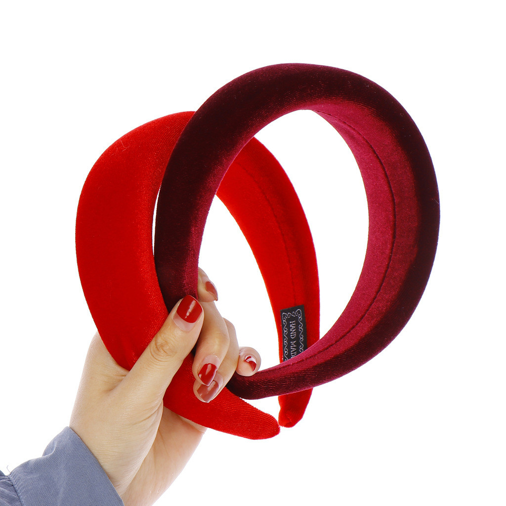 2019 Fashion Sponge Velvet Hairband For Women Girls Head Bands   Headwear   Fashion Hair Bands Accessories A424