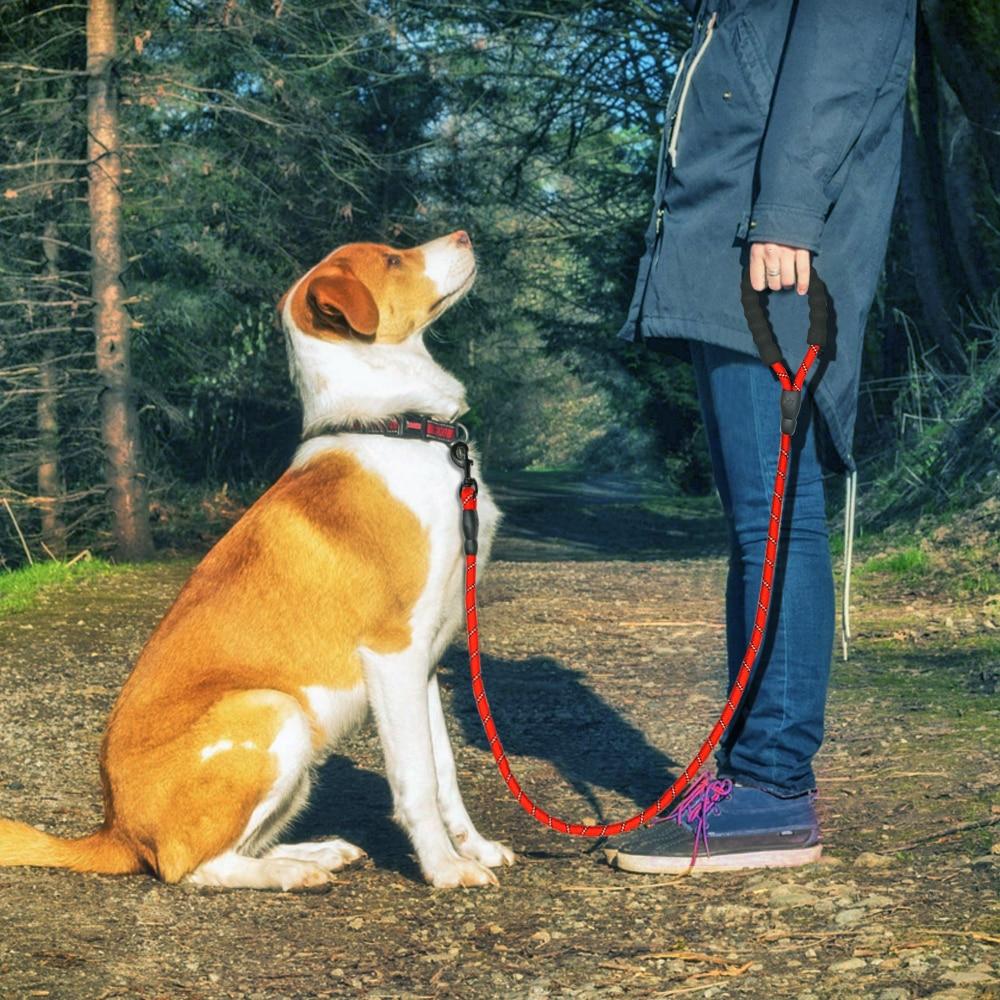 Reflective Large Dog Leash Nylon Rope Pet Running Tracking Leashes Long Lead Dog Mountain Climbing Rope