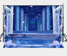 150x220cm Amazing Ice Scene Backdrop Shiny Pillar background Flowing Water Photography Backdrops Studio Props