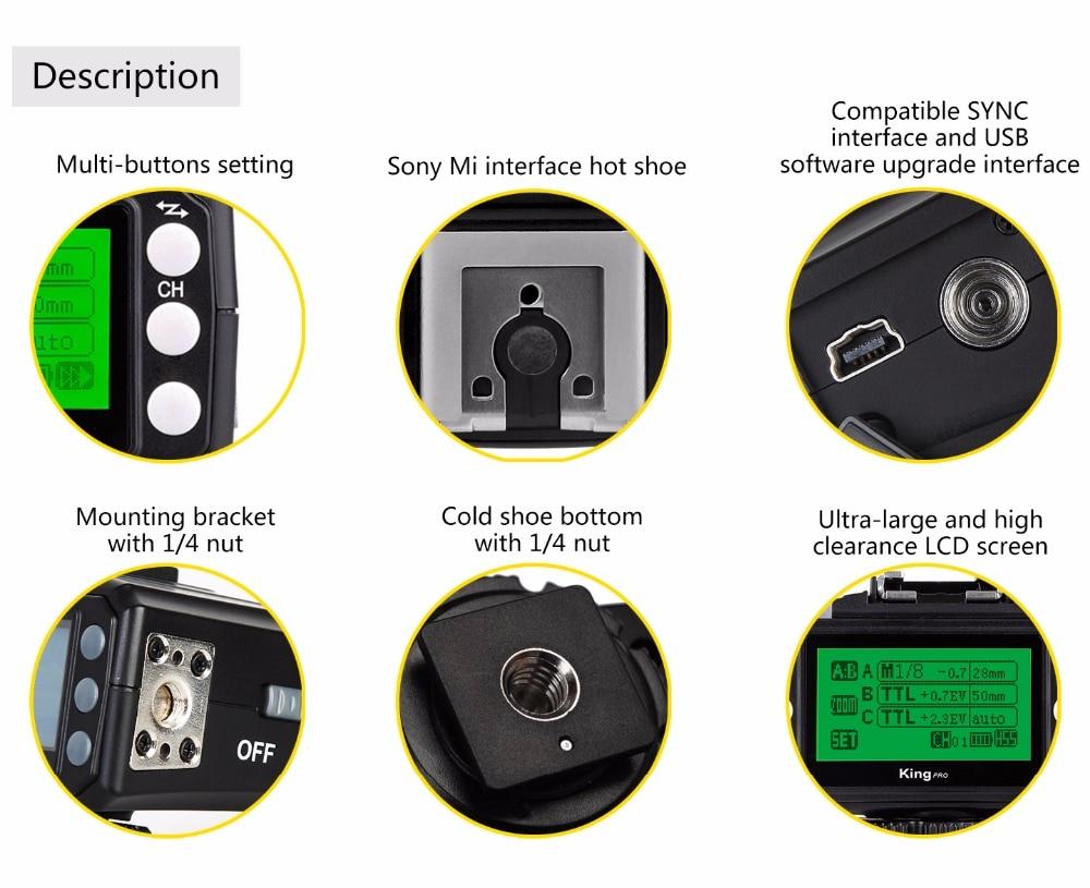 PIXEL King Pro Off-camera bezdrátový blesk Trigger Set Transceiver - Videokamery a fotoaparáty - Fotografie 2