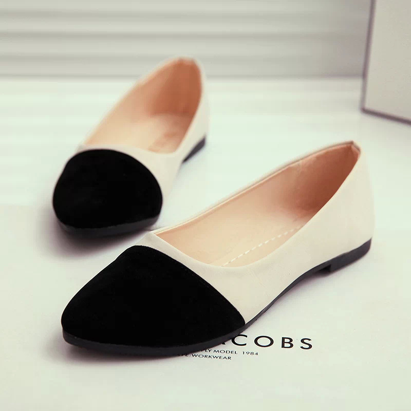 Women Flats Slip On Casual Shoes 2017 Summer Fashion New Comfortable Flock Pointed Toe Flat Shoes Woman Work Loafers Plus Size xiaying smile woman flats women brogue shoes loafers spring summer casual slip on round toe rubber new black white women shoes