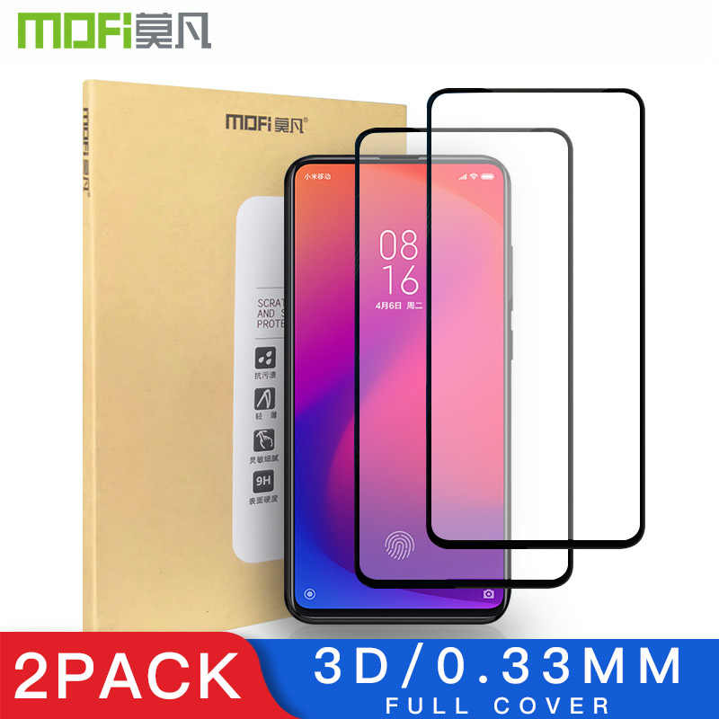 Mofi 2 Pack 3D Screen Protector For Xiaomi Mi 9T Glass Full Coverage LCD For Xiaomi 9T Glass Thin Protective Film 9H +Anti-Glare