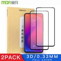Mofi 2 Pack 3D Screen Protector For Xiaomi Mi 9T Glass Full Coverage LCD For Xiaomi 9T Glass Thin Protective Film 9H +Anti-Glare