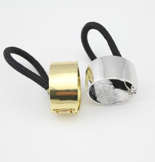 Мода темперамент дикий металл текстура цилиндр кольцо повязка на голову волос, украшения для волос Бесплатная доставка