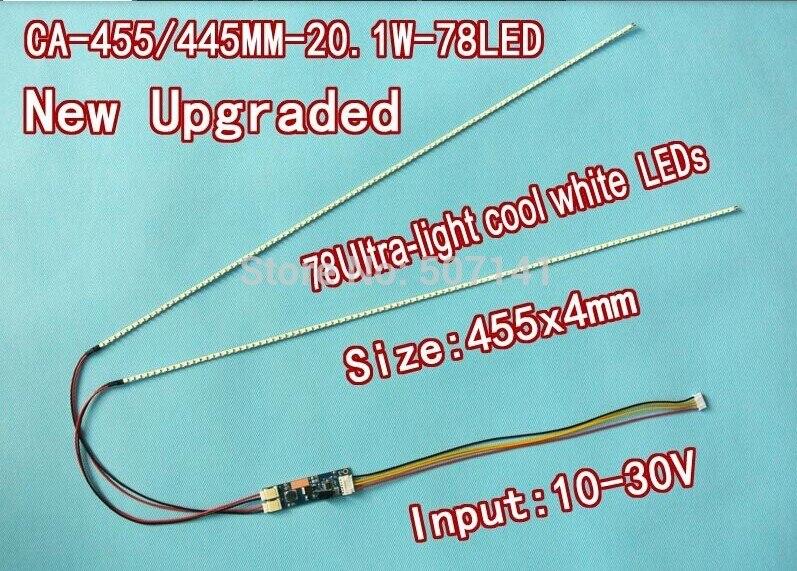 NEW 20.1'' 455mm Adjustable Brightness Led Backlight Strip Kit,Update 20.1inch Wide LCD CCFL To LED Backlight