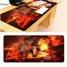 Yuzuoan Personalized Cool Fashion Luffy One Piece Silicone Pad to Mouse Game Size for 300x600x2mm/ 400x900x3mm Large Mouse pad