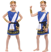 Childrens Halloween Costume Boys Egyptian Pharaoh Photographic Zeus Cosplay