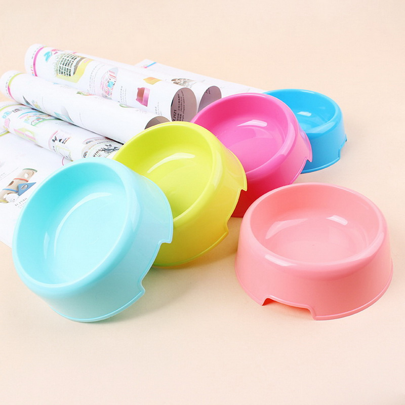 New Fancy Store Pet Dog Feeding Bowl Cat Puppy Food Dish Pet Drink Water Bowl Non Slip For dog cat supply 3 Colors