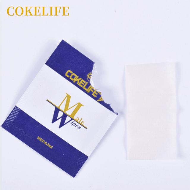 12pcs COKELIFE Male Delay Wipes Natural Wet Tissue Man Sexual Prolong Retardant Ejaculation Long lasting Sex Delay Products