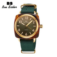 купить Nylon Strap Quartz Women Watch Women Square Big Dial Casual Watches Lady Bracelet Wrist Watch Relogio feminino relojes mujer онлайн