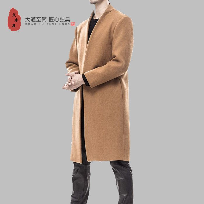 2017 Windbreaker Mens Overcoat Trench Coat Men Men's Original Wind Folk Style Size Wool Male Woolen Coat In The Long Winter