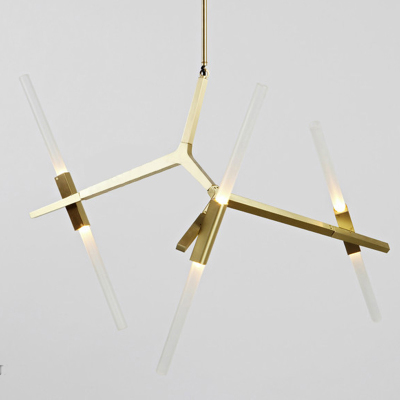 Italy RollHill Agnes Chandelier Light Modern GoldBlack Tree Branch