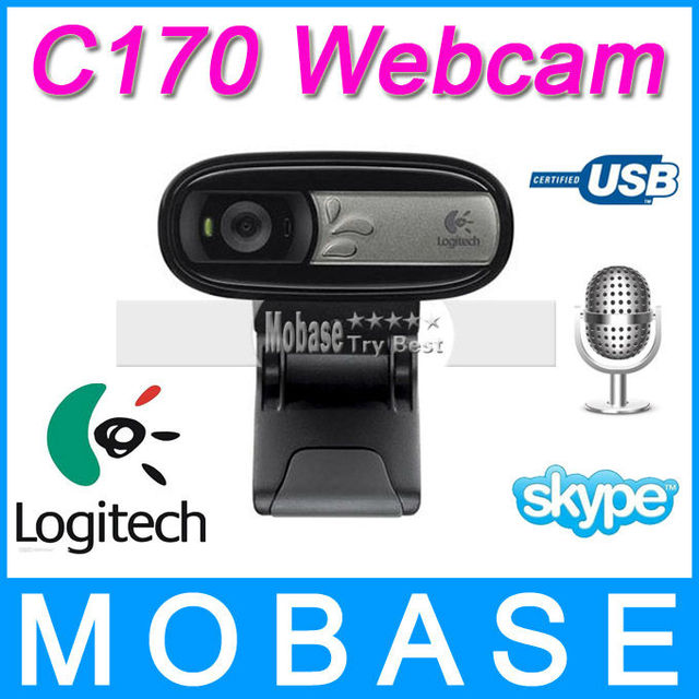 Logitech C170 Webcam with Microphone, USB Web Cam Camera HD Plug-and-Play, for PC Notebook Laptop Tablet TV BOX