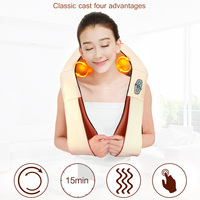 Hot Sale Kneading massage cape cervical massage device heated neck and shoulder belt for car&house use free shipping