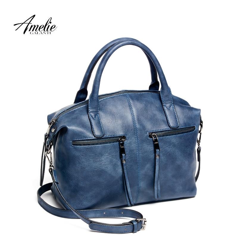 AMELIE GALANTI brand new fashion women tote bag with a pillow bag high quality PU handbag solid shoulder messenger bags
