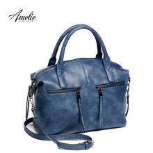 AMELIE GALANTI brand new fashion women tote bag with a pillow bag high quality PU handbag solid shoulder messenger bags(China)