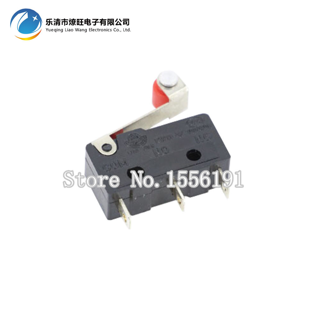 10PCS/lot 3pin  All New Limit Switch  N/O N/C 5A250VAC KW11-3Z Mini Micro Switch  With Pulley 10pcs limit switches 3 pin n o n c 5a 125v 250vac micro switch roller lever arm pcb terminals kw12 3