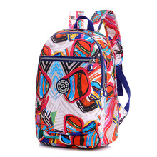 Лето 2017 г. Новый Нейлон Водонепроницаемый красивая печать Back Pack для девочек большой Ёмкость сумки свободного покроя ультра-легкие школьные сумки