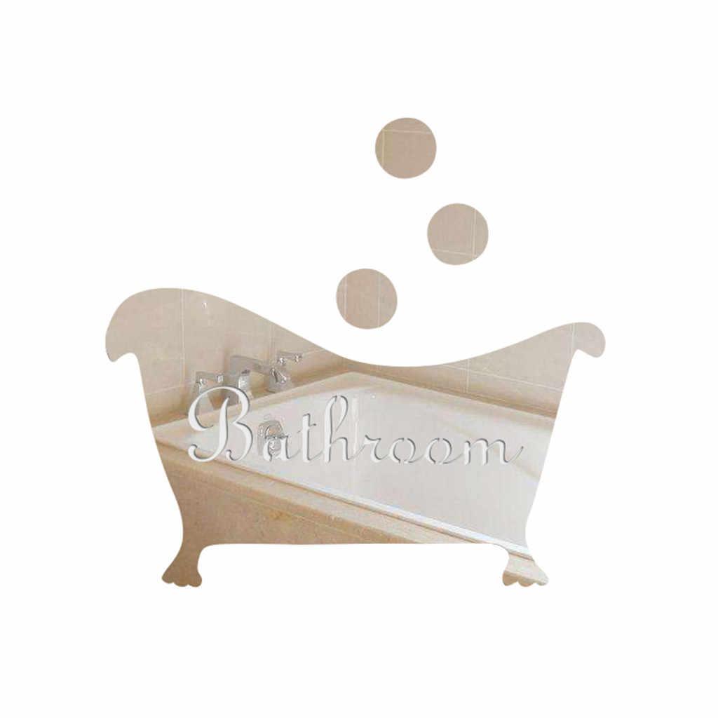 ISHOWTIENDA 2019 3D مرآة ملصق مضحك باب مدخل تسجيل الاطفال الرجال النساء الحمام DIY الجدار الساخن بيع