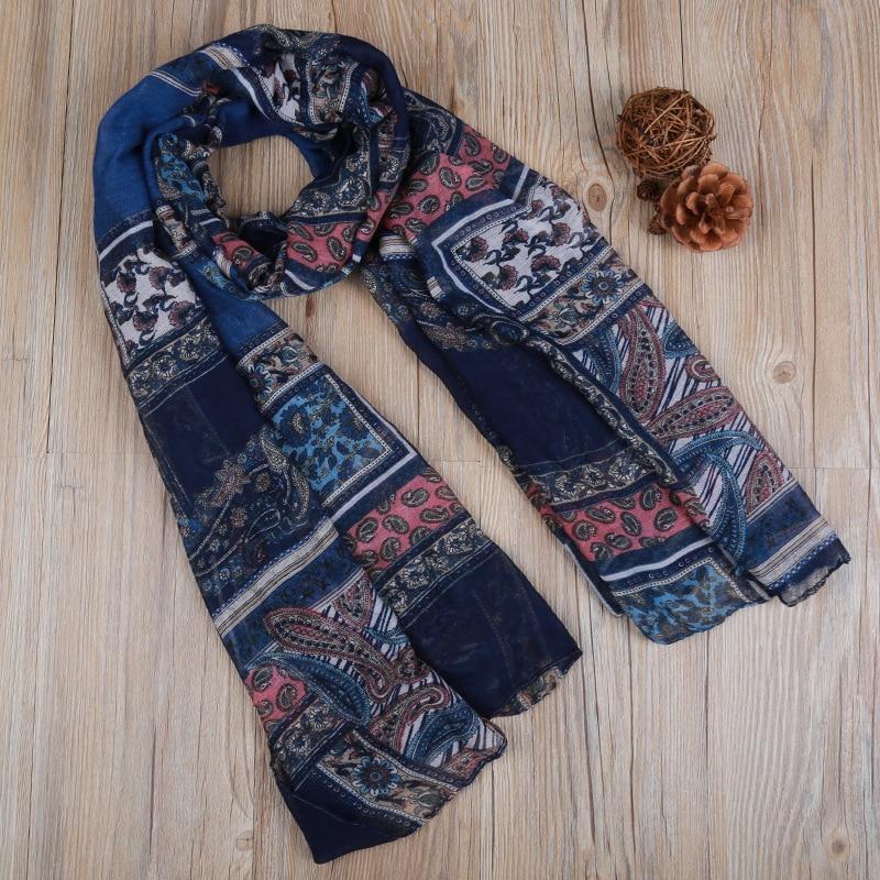 180*90cm New Design Foulard Femme Hijab Scarf Cashew Flower Pattern Shawl Winter Women Accessories Scarfves Neckerchief