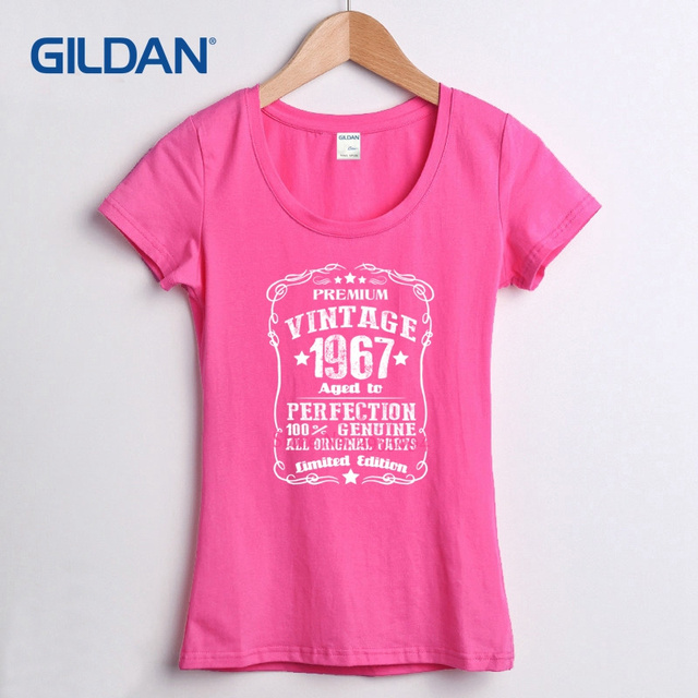 Polyester T Shirt 2017 50th Birthday 1966 Novelty Tee Shirts Gag Gift Vintage Present Dad Husband Old Fart 100 Cotton