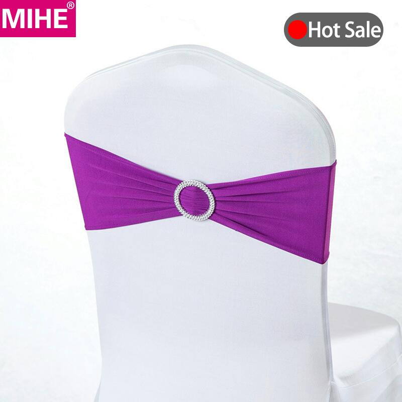 Home Textile Provided Wedfavor 100pcs Universal Self Tie Satin Chair Covers Wedding Wrap Chair Covers For Banquet Hotel Party Decoration Consumers First