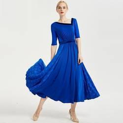 Синий Стандартные Бальные платья костюмы для румбы стандартные танцевальные платья Красной фламенко платье бальные платье для вальса