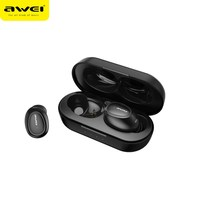 Awei T6C TWS Wireless Earphones Bluetooth 5.0 Binaural Mini Stereo Earbuds With Mic Charging Dock For iPhone Xiaomi